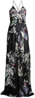 Black Halo Blidge Halterneck Floral Gown