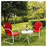Crosley Griffith 3 Piece Metal Outdoor Conversation Seating Set Red