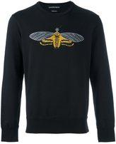 Alexander McQueen moth embroidered sweatshirt - men - Cotton/Viscose - S