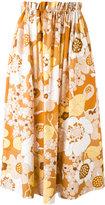Chloé floral-print skirt - women - Cotton - 36