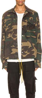 Rhude Drawstring Jacket in Camo | FWRD