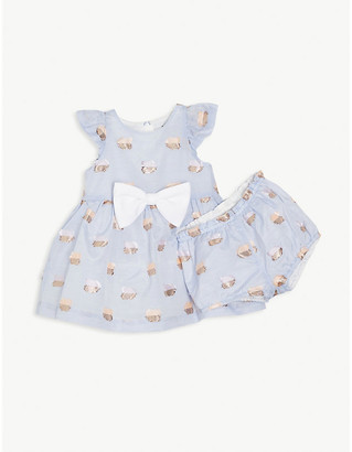 Hucklebones London Flutter tulle cotton-blend dress 6-36 months