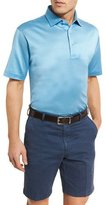 Peter Millar Barris Birdseye Cotton Lisle Polo Shirt, Blue