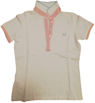 Fred Perry White Cotton Top for Women