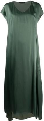 Fabiana Filippi Short-Sleeve Flared Maxi Dress