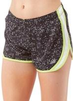 "New Balance Womens Accelerate Printed 2.5"" Running Shorts Black Digital Ovals"