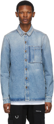Off-White Blue Spray Paint Arrows Shirt