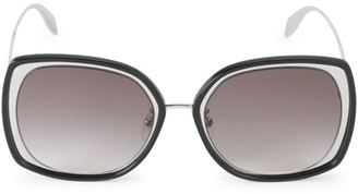 Alexander McQueen 57MM Mod Square Sunglasses