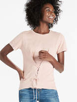 Lucky Brand Washed Lace Corset Tee