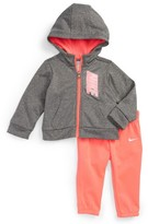 Nike Infant Girl's Therma-Fit Fleece Hoodie & Pants Set