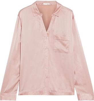 Skin Stretch-silk Satin Pajama Shirt