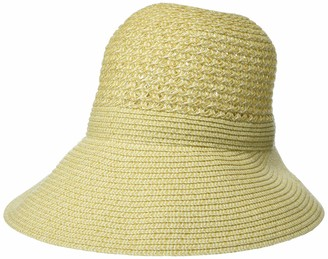 Calvin Klein Women's Calvin Kelin Vented Reader Paper Straw Sun Reading Hat