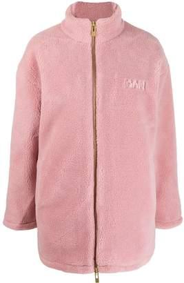 Han Kjobenhavn textured zip-up jacket