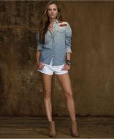 Denim & Supply Ralph Lauren Top, Long-Sleeve Ombre Flag Chambray Shirt