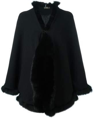 N.Peal cashmere furry trim cardigan