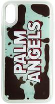 Palm Angels Blue Liquid Logo iPhone XR Case