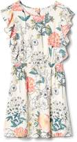 Gap Floral Cascade Ruffle Dress