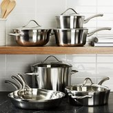Crate & Barrel Calphalon Contemporary TM Stainless 13-Piece Cookware Set with Double Bonus