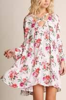 Umgee USA Floral Print Swing Dress