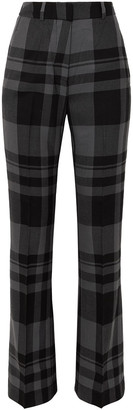 Markus Lupfer Kennedy Checked Wool Bootcut Pants