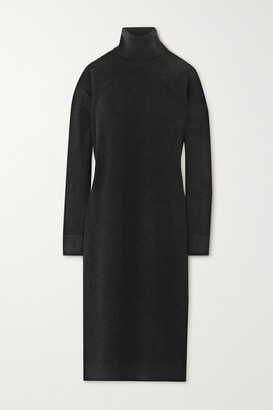 Haider Ackermann Wool And Cashmere-blend Turtleneck Midi Dress - Black