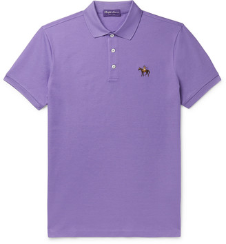 Ralph Lauren Purple Label Logo-Embroidered Cotton-Pique Polo Shirt