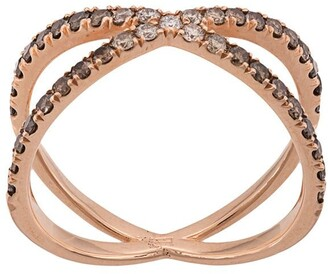 Eva Fehren 14kt rose gold The Fine Shorty diamond ring