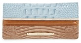 Brahmin Women's Ady Leather Continental Wallet - Blue