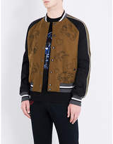 Lanvin Embroidered Wool Bomber Jacket