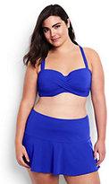 Lands' End Women's Plus Size Underwire Sweetheart Bikini Top-Melon Breeze