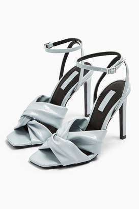 Topshop RUMBA Blue Patent Sandals