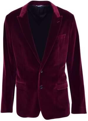 Dolce & Gabbana Burgundy Velvet Jackets