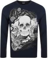 Just Cavalli Skull T Shirt Navy