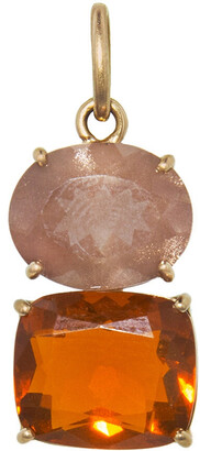 Irene Neuwirth One-Of-A-Kind Sunstone Oval and Fire Opal Rose Gold Charm