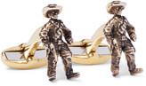 Paul Smith Cowboy Burnished Gold-Tone Cufflinks