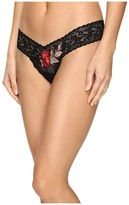 Hanky Panky Rose Applique Low Rise Thong