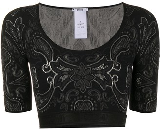 Wolford Paisley Stretch Jersey Cropped Top