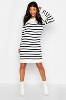 boohoo Maternity Stripe Sweater Dress
