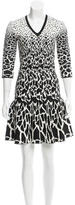 Roberto Cavalli Patterned Knit Dress w/ Tags