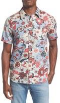 O'Neill Men's 'Hubbard' Trim Fit Print Short Sleeve Woven Shirt