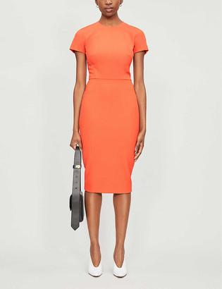 Victoria Beckham Round-neck short-sleeved woven midi dress