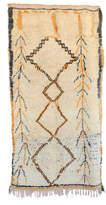 "Indigo&Lavender Vintage Azilal Moroccan Berber Rug, 4'6"" x 8'9"" feet"