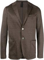 Harris Wharf London - notched lapel blazer - men - Cotton/Linen/Flax - 46