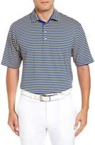 Bobby Jones Men's Liquid Cotton Feed Stripe Polo