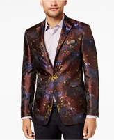 Tallia Men's Slim-Fit Purple Abstract Floral-Jacquard Blazer