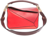 Loewe Puzzle Small Patchwork Satchel Bag, Red