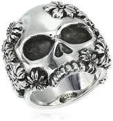 King Baby Studio Unisex Sakura Large Skull Ring, Size