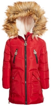 DKNY Little Girls Fashion Quilted Puffer Coat