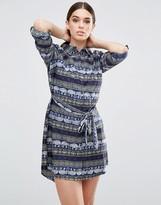 AX Paris Elephant Printed Shirt Dress
