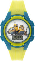 Disney Despicable Me Minions Kids Yellow Plastic Strap Digital Watch
